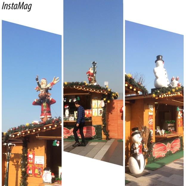 昼間のクリスマスマーケット