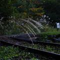 かつてこの場所に木曽王滝森林鉄道の松原駅が存在しました