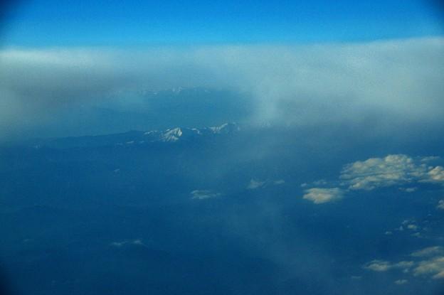 写真00663 御前崎を過ぎて降下が始まり中央アルプスが