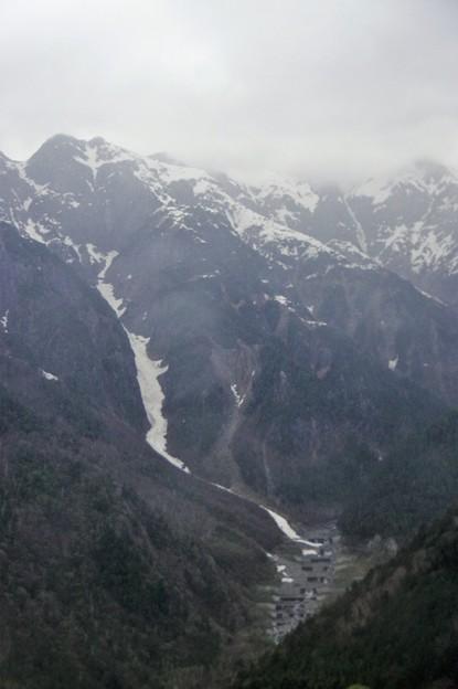 IMGP4295 笠ヶ岳からの雪渓か