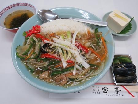 中華 宝亭 ピーマン丼(出前)¥950