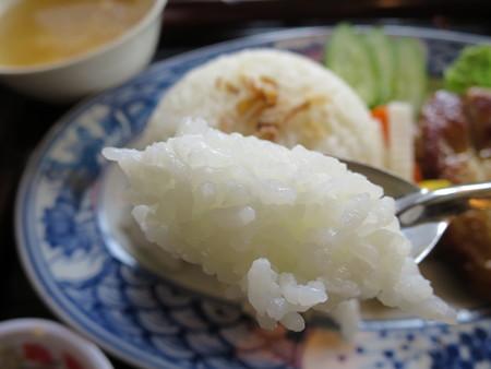 ベトナム・キュイジーヌ・チャオゴン こんがりチキンの皿飯(コムガー) ジャスミン米アップ