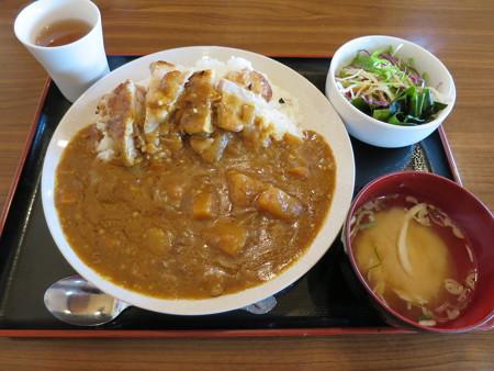 よしきゅう膳 新井ハイウェイオアシス店 鶏もも肉の塩焼きカレー¥900