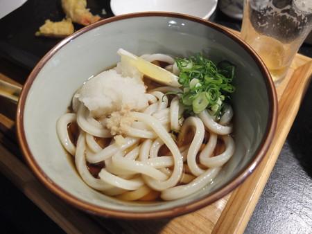 讃岐うどん房 鶴越 おつかれセット(3/3)¥1080 〆の小うどん(温ぶっかけ(温は冬季限定))