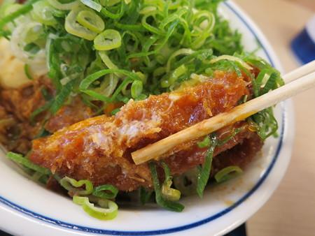 かつや上越店 ねぎ味噌カツ丼(期間限定) カツアップ