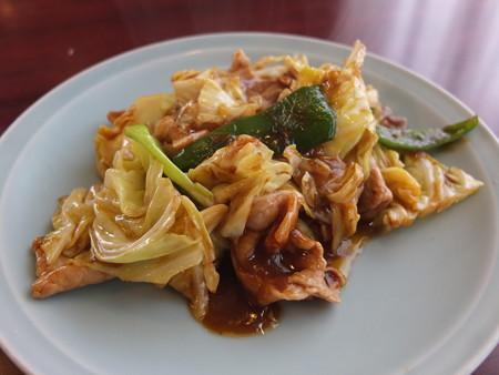 チャイナハウス シルクロード 回鍋肉定食 アップ