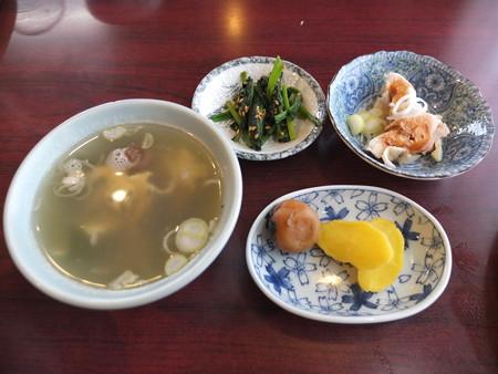 チャイナハウス シルクロード 回鍋肉定食 平成28年2月某日の副菜の様子
