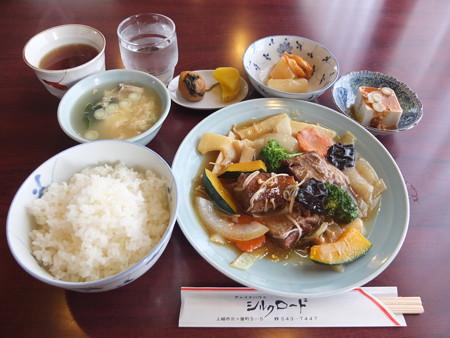 チャイナハウス シルクロード 東坡肉定食¥1100