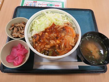 北陸道(上) 米山SAスナックコーナー スタミナ丼¥650