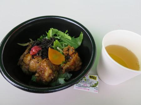 品和亭屋台 甘からとり湯漬(謙信勝負飯)(出汁別盛り)¥500