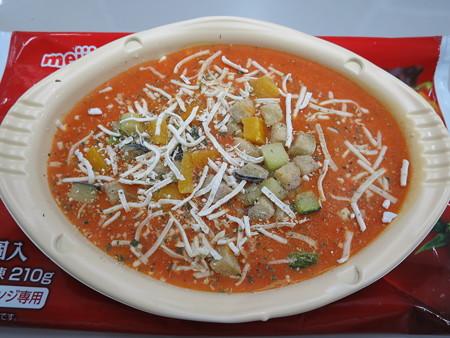 明治 野菜たっぷりトマトリゾット レンジアップ前の様子