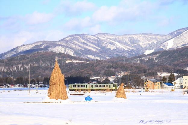 飯山線雪景色