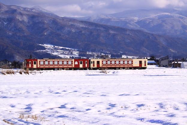 飯山線雪景色 おいこっと