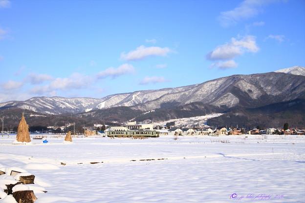 写真: 飯山線雪景色 (2)
