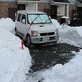 駐車場除雪中の様子