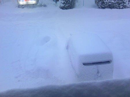 自宅前の雪の様子 20100205