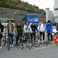 写真: 沖縄最終日はサイクリング・・・