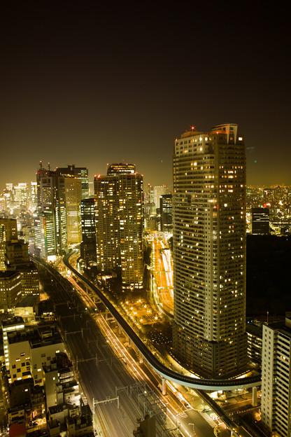 写真: 東京汐留夜景