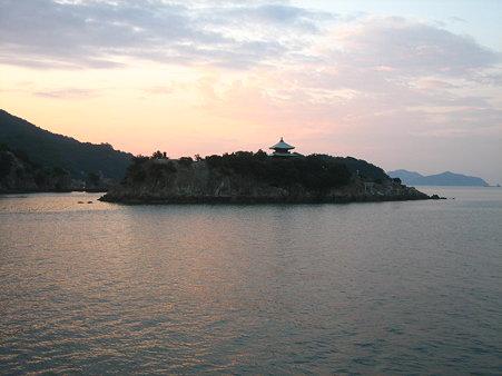 弁天島(百貫島)の夜明け