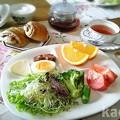 写真: ショコラブレッド 朝食