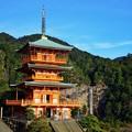 写真: 青岸渡寺三重塔
