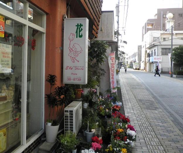 商店街の花屋さん