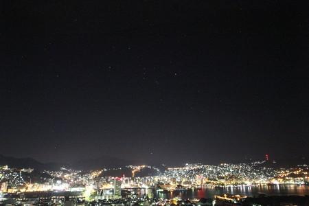 長崎夜景とオリオン座