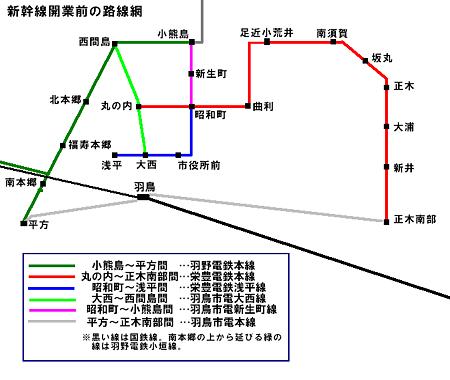 羽鳥電鉄旧路線図