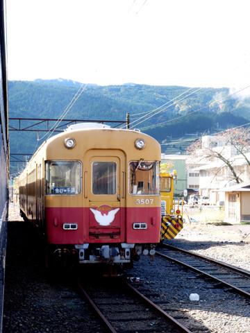 留置中の元京阪特急車