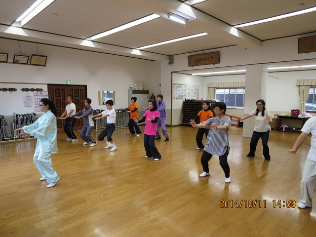土曜日の太極拳教室 2014.10.11