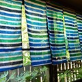 写真: 手ぬぐいカーテン