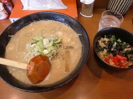 らー麺ふしみ あわせ味噌大盛り+ねぎチャーシュー丼