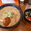 Photos: らー麺ふしみ あわせ味噌大盛り+ねぎチャーシュー丼