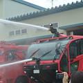 基地内消火用の大型消防車