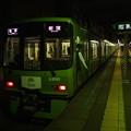 京王線上北沢2番線 緑の京王線各停新宿行き停止位置確認
