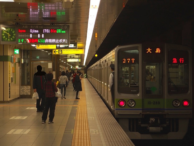都営新宿線馬喰横山駅2番線 都営10-280F急行大島行前方確認
