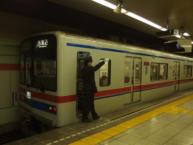 都営浅草線五反田駅1番線 京成3431普通西馬込行き