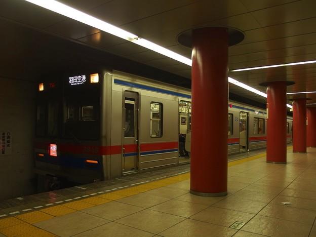 都営浅草線新橋駅1番線 京成3841Fエアポート快特羽田空港行き