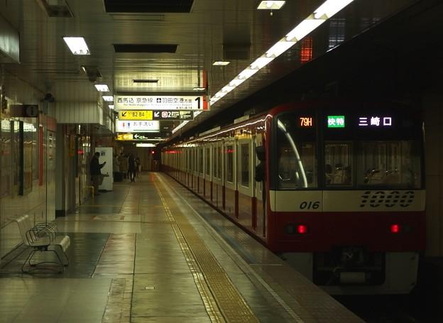都営浅草線東日本橋駅1番線 京急1009快特三崎口行き前方確認