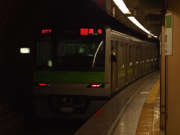 都営新宿線浜町駅1番線 都営10-480F各停調布行き前方よし