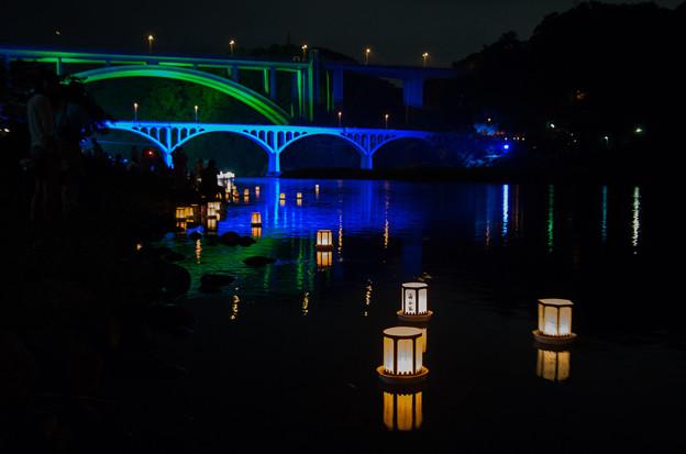 小倉橋と灯籠流し