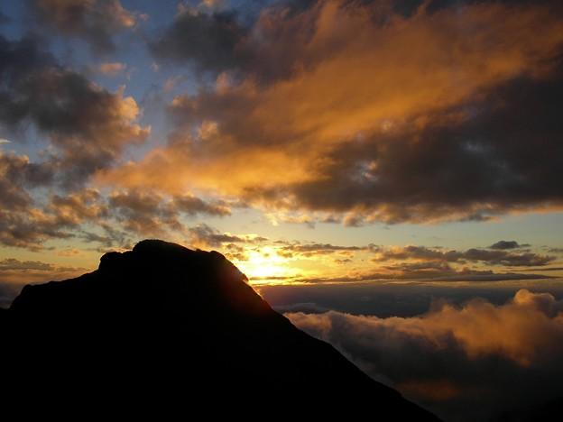 赤岳の夕陽