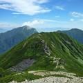 仙丈ケ岳から小仙丈への道