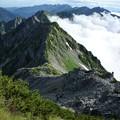 Photos: 針ノ木岳からスバリ岳をのぞむ