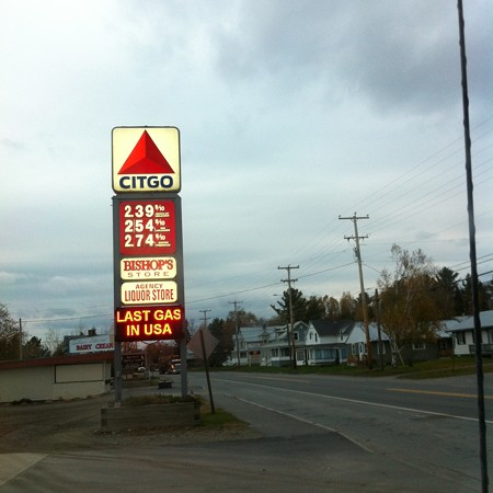 Last Gas Station in the USA 10-20-15