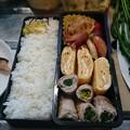 写真: おはよう  わが家のベッカクは、アスパラ菜、の、豚肉巻き、だけど…(*^^*)美味しそうにできたよっ♪