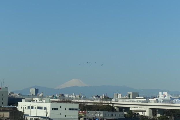 首都高から見える富士山