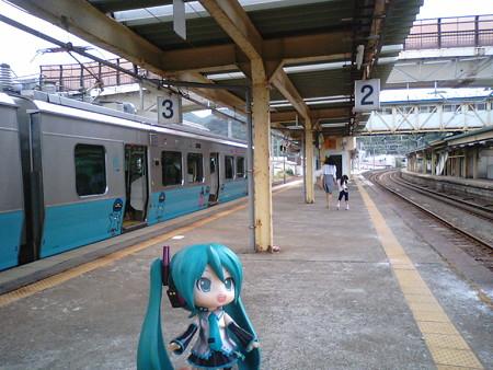 定刻で、浅虫温泉駅に到着です。