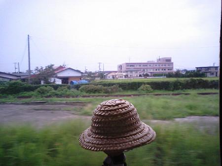石越駅に停車。以前はここから「くりはら高原鉄道」が分岐してました...