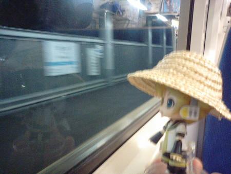 筒井駅に停車。 レン:「あれ、新しい駅ができたんだね!」